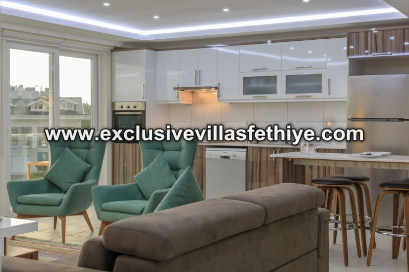 Exclusive 3 beds penthouses with large pool rentals in Ovacik Fethiye Turkey